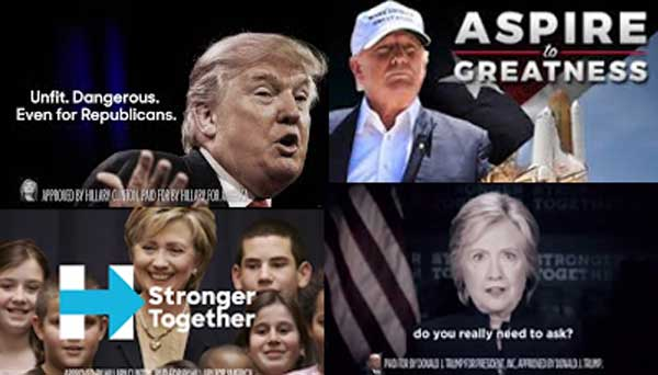 campaign ads trump clinton